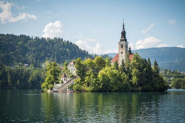Ostrov s kostolom, Bled,
