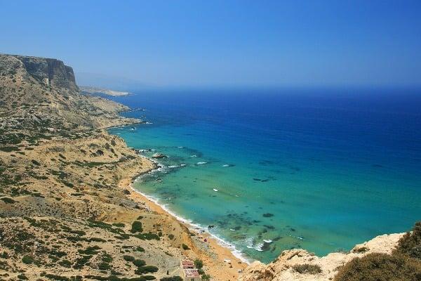 Červená pláž, Kréta, Grécko