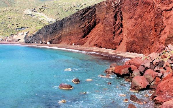 Červená pláž, Santorini