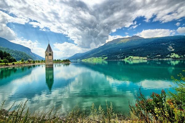 Jazero Reschensee, Taliansko