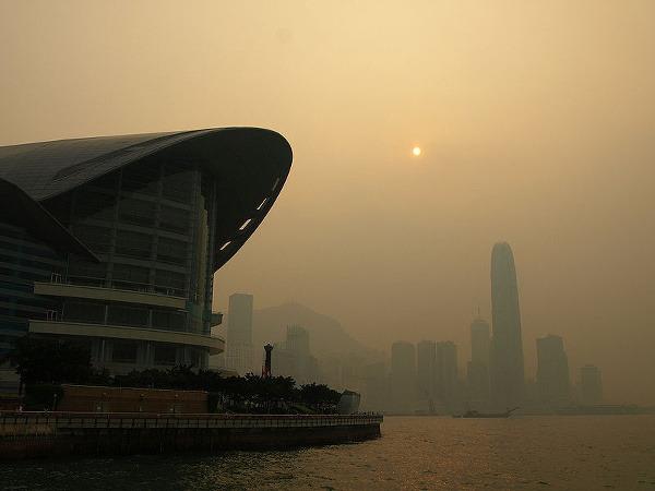 Hongkong, znečistenie vzduchu, Čína