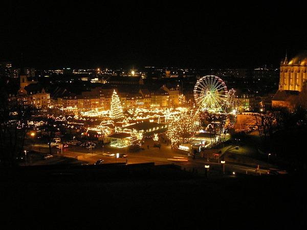 Vianočné trhy, Erfurt, Nemecko