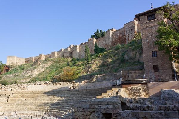 Pevnosť Alcazaba, Rímsky amfiteáter,