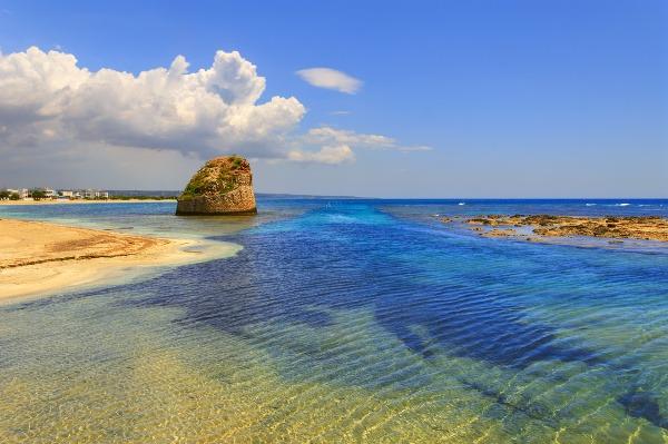 Salento, pláž Torre Pali