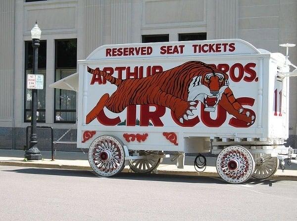 Cirkusové múzeum, Wisconsin, USA