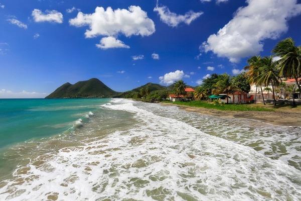 Diamantová pláž na Martiniku.