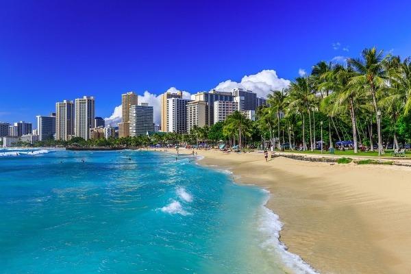 Toto je pláž Waikiki