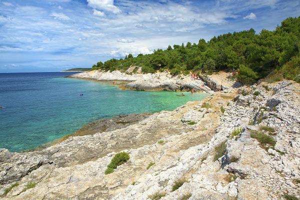 Pláž na polostrove Kamenjak