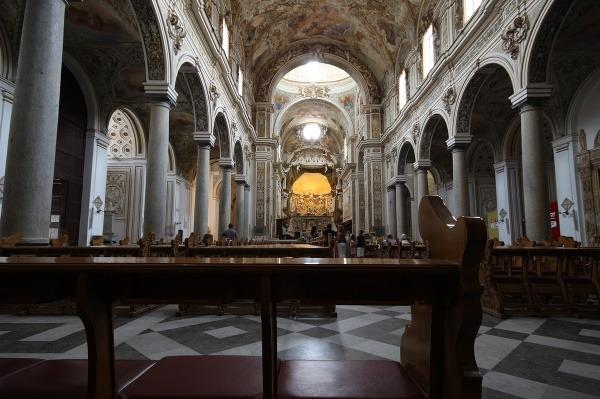 Interiér katedrály v Mazara