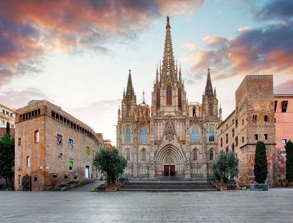 Gotická katedrála v Barcelone