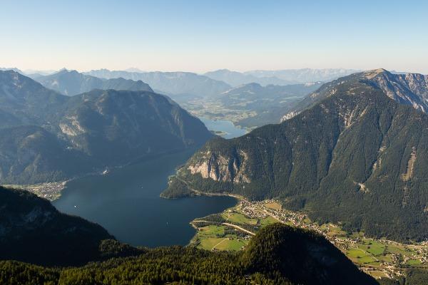 Výhľad z pohoria Dachstein