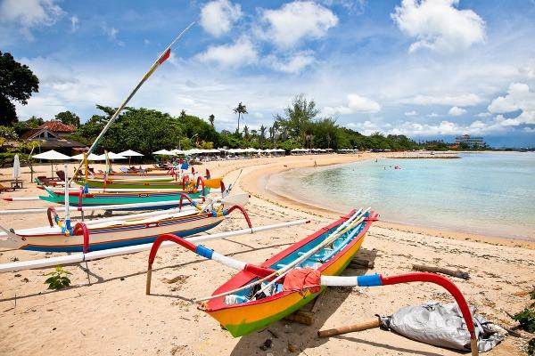 Tradičné člny na Bali