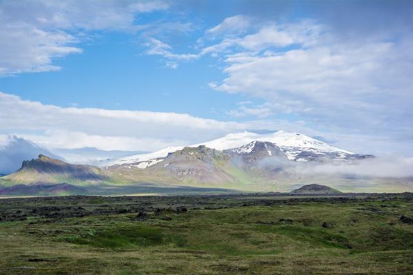 Sopka Snæfellsjökull, Island