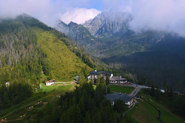 Letecký pohľad na Hrebienok