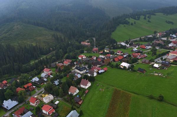 Letecký pohľad na časť