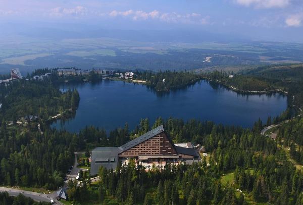 Letecký pohľad na Štrbské