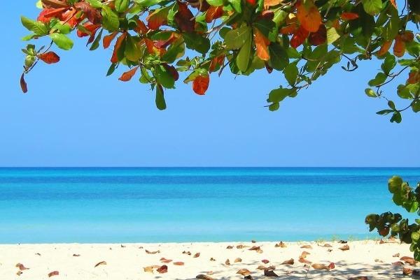 Pláž na Jamajke