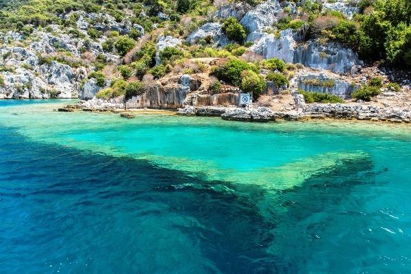 Ostrov Kekova, Turecko