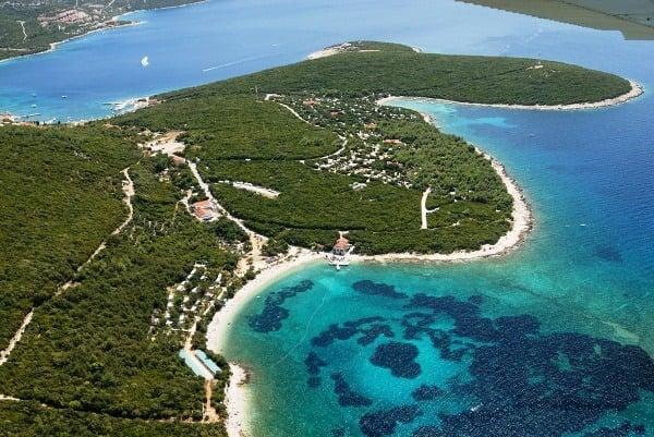 Pláž Slatina (Martinšćica, ostrov