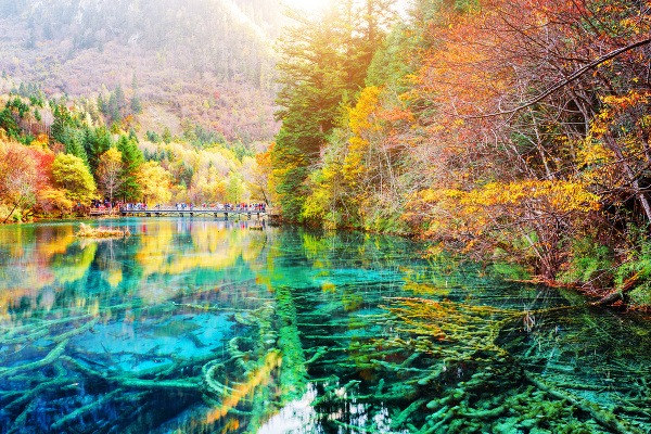 Jazero piatich kvetov, Čína