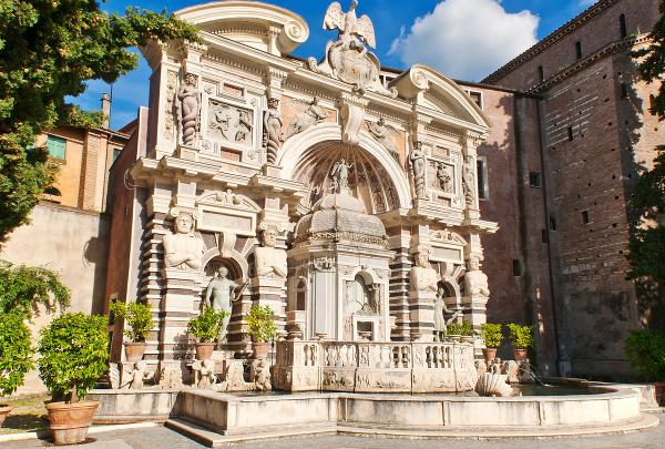 Organová fontána, záhrady Tivoli