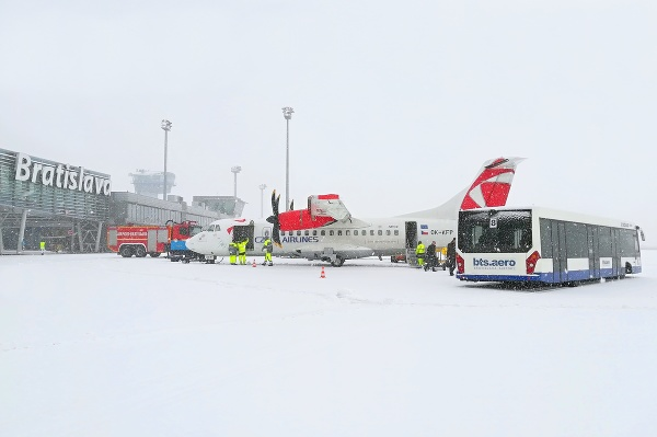 Zimná údržba na bratislavskom