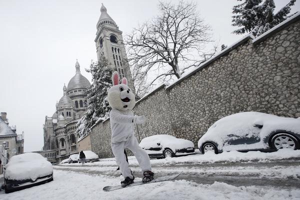 Paríž pod snehom