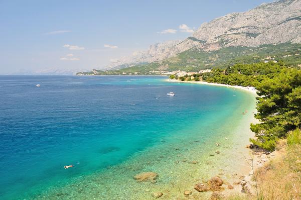 Pláže pri Tučepi, Chorvátsko