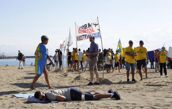 Protest proti turizmu v