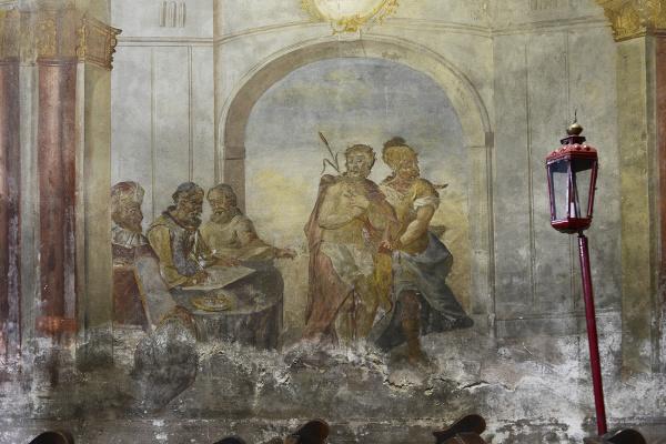 Barokové fresky v kostole