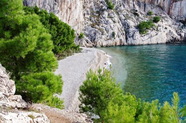 Pláž v Tučepi, Chorvátsko
