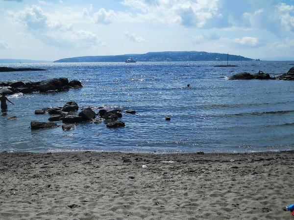 Pláž pri nórskom Osle
