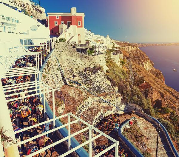 Somáre na gréckom ostrove