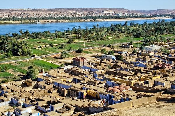 Núbijská dedina, Asuán, Egypt