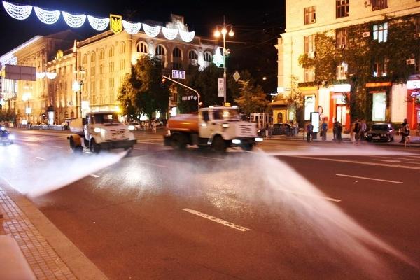 Centrálna kyjevská ulica Chreščatyk