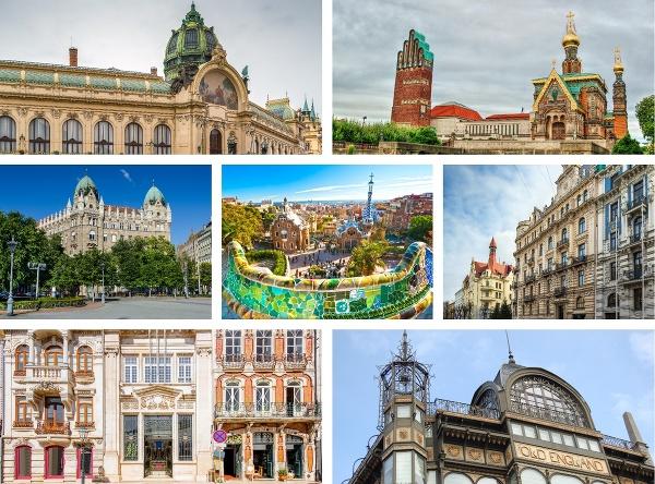 7 najkrajších európskych secesných