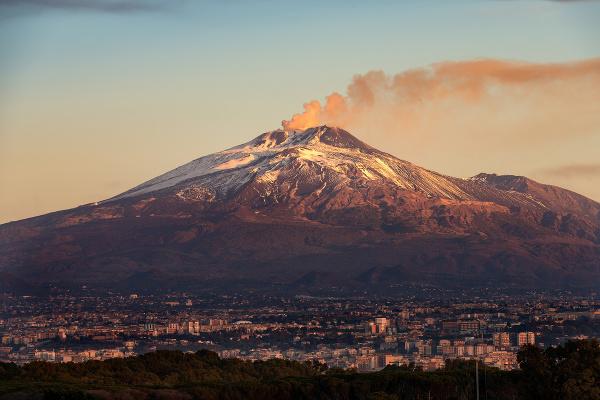 Sopka Etna, Sicília, Taliansko