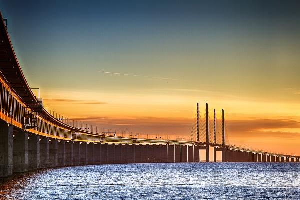 Öresundský most, Malmö, Švédsko