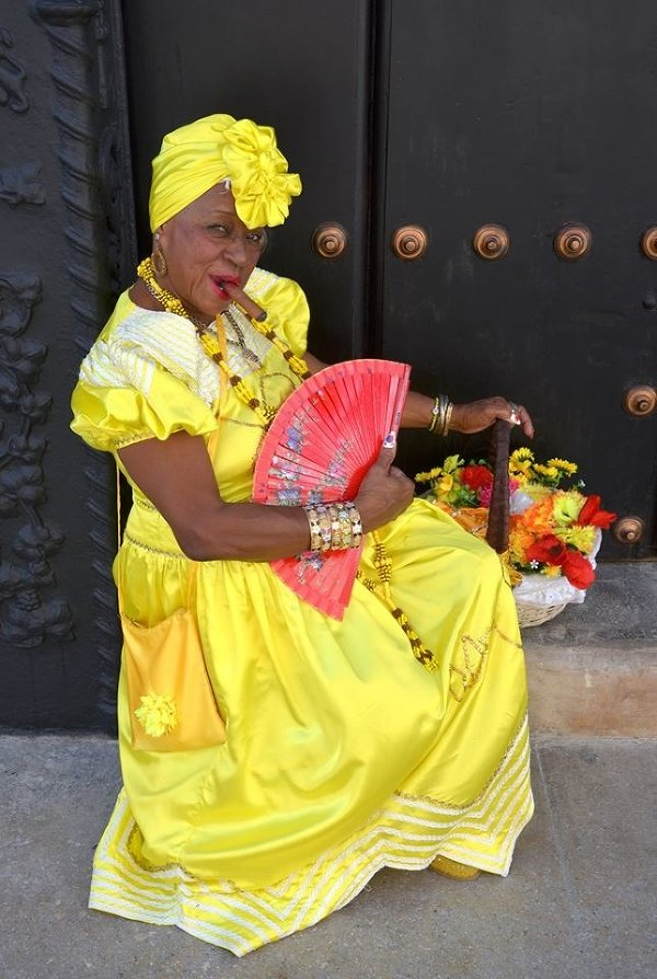 Dáma v Havane, Kuba
