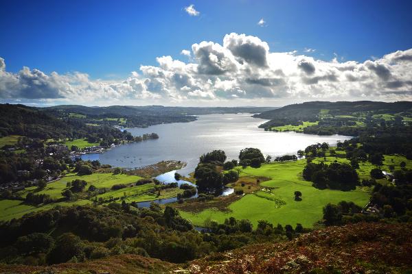 Jazero Windermere, Cumbria, Anglicko