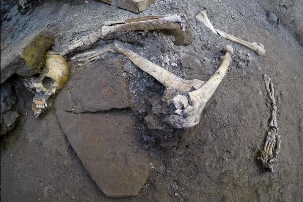 Pri vykopávkach v Pompejach