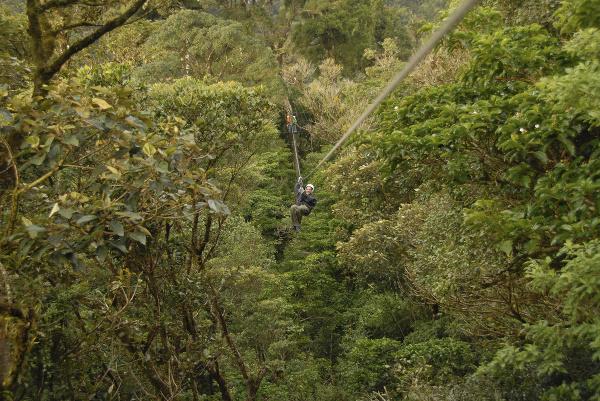 Zlaňovanie (zipline) v Kostarike