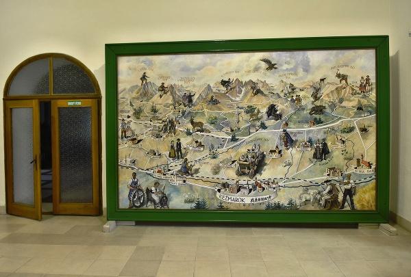 Dobová mapa Vysokých Tatier