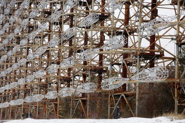 Konštrukcia tajného radaru DUGA,