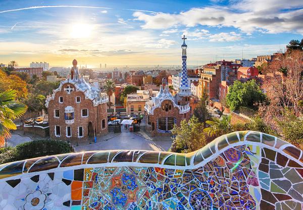 Parc Guell, Barcelona, Španielsko