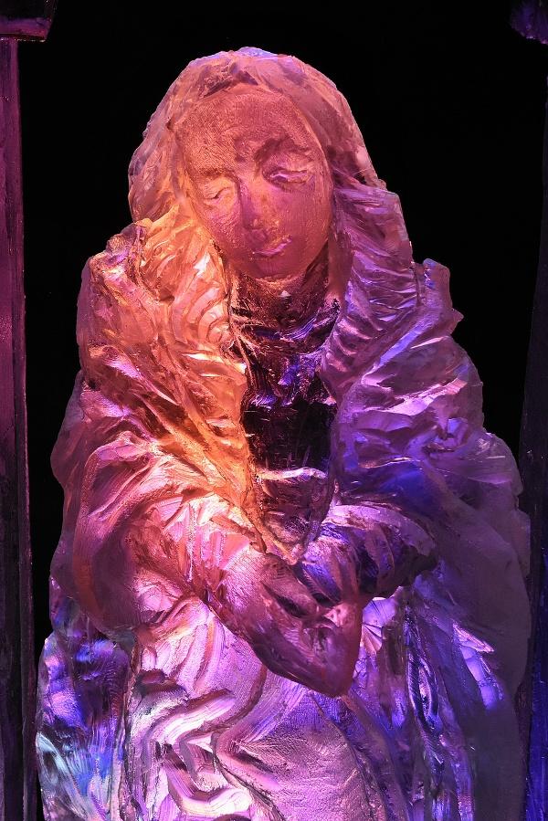 Detail ľadovej sochy slovenského