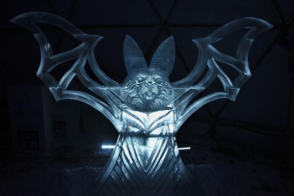 Ľadová socha tímu z