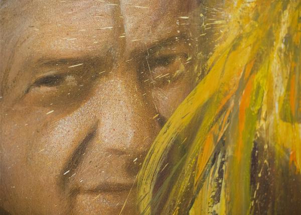 Na snímke autoportrét maliara