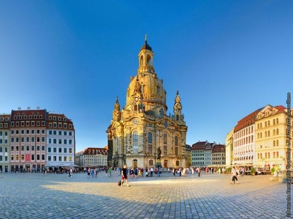 Drážďany: Neumarkt a Frauenkirche