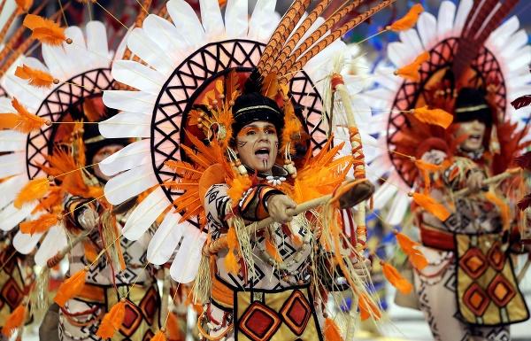 Karnevalový sprievod v brazílskom